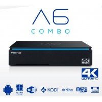 Amiko A6 Combo Hybrid DVB-S/S2 + DVB-C/T2 OTT IPTV Media Streamer Receiver