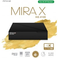 Amiko MIRA X HiS-4100 - Fast Linux based Pure 4K UHD OTT IPTV Media Streamer with built in WiFi