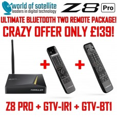 Formuler Z8 PRO [NEW 2020 VERSION] ULTIMATE BLUETOOTH TWO REMOTE PACKAGE GTV-BT1 + GTV-IR1