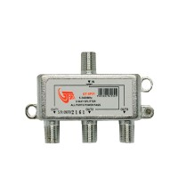 GT-Sat GT-SP31 3 Way Satellite Splitter 5-2400MHz DC Pass Suitable for Unicable