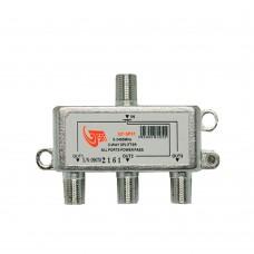 GT-Sat GT-SP31 3 Way Satellite Splitter 5-2400MHz DC Pass Suitable for Unicable