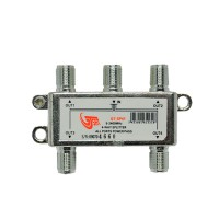 GT-Sat GT-SP41 4 Way Satellite Splitter 5-2400MHz DC Pass Suitable for Unicable