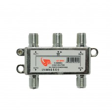 GT-Sat GT-SP41 4 Way Satellite Splitter 5-2400MHz DC Pass Suitable for Unicable