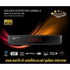 Golden Interstar Gamma X H.265 HEVC Terrestrial Freeview HD DVB-T2/C + OTT IPTV Digital Receiver