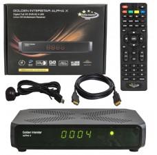 Golden Interstar Alpha X H.265 HEVC HD Multi-stream Digital Satellite + OTT IPTV Receiver