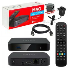 MAG420w1 4K IPTV Set Top Box Multimedia Player Internet TV Receiver with BUILT IN WiFi