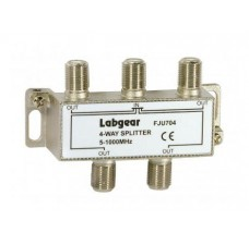 Labgear UHF 4-way Splitter 5-1000MHz DC Pass