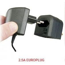 EU 2 pin To UK 3 pin EURO TRANSFORMER TO UK CONVERTER PLUG (BCA-BK 3A) BLACK