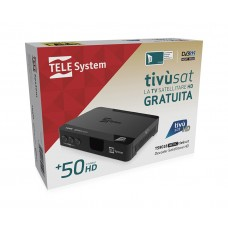 TivuSat Telesystem TS9018HEVC HD Decoder + FREE PRE-ACTIVATED Tivusat HD SmartCard