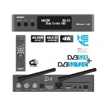 Edision OS mio+ 4K UHD Grey 1x DVB-S2X + 1x DVB-S2/T2/C