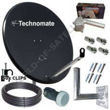 Technomate 80cm Motorised Solid Satellite Dish Pack