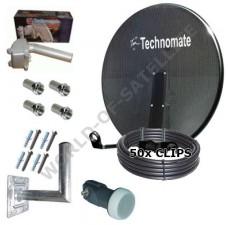 Technomate 97cm Motorised Mesh Satellite Dish Pack