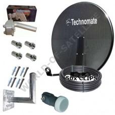 Technomate 80cm Motorised Mesh Satellite Dish Pack