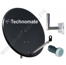 Technomate 80cm Solid Satellite Dish Kit