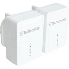Technomate TM-600 HP 600Mbps Turbo HomePlug Powerline AV2 Adapter Kit