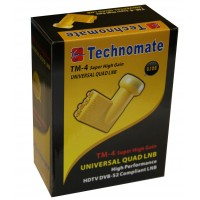 Technomate TM-4 Super High Gain Gold 0.1dB QUAD LNB HD Ready