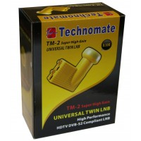 Technomate TM-2 Super High Gain Gold 0.1dB Twin LNB HD Ready